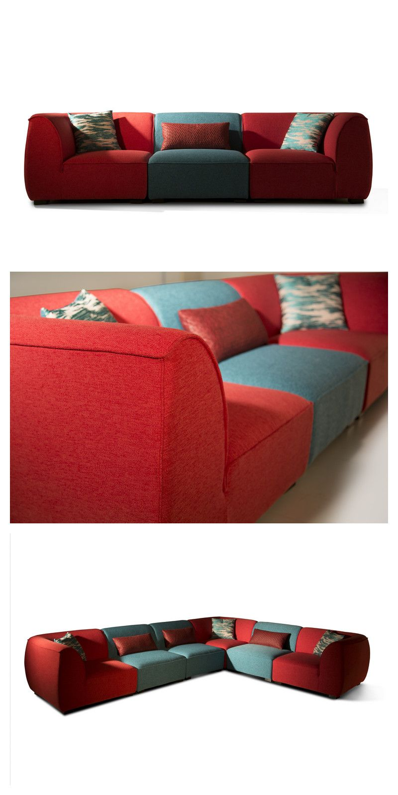Modern Furniture Red And Teal Multi Combination 6 Seater Design 40 Inches Deep Sofa Set Cocheenfurniture Colorfuls Sofa Colors Deep Sofa Buy Modern Furniture