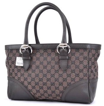 261fee29a3cb Get one of the hottest styles of the season! The GUCCI Canvas Leather Gg  New Brown Tote Bag is a top 10 member favorite on Tradesy.