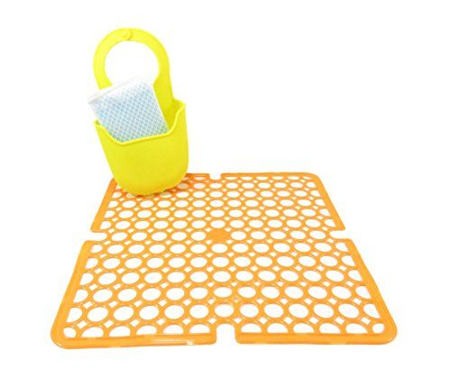 cool sink protector mat 10 7 8 x 10 7 8 and sponge scrubb dream rh pinterest com