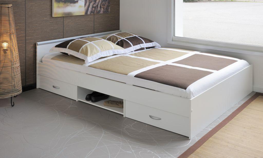 Stauraumbett 140 X 200 Cm Mega 3 1 Stauraumbett Bett Ideen Bett 120x200 Weiss
