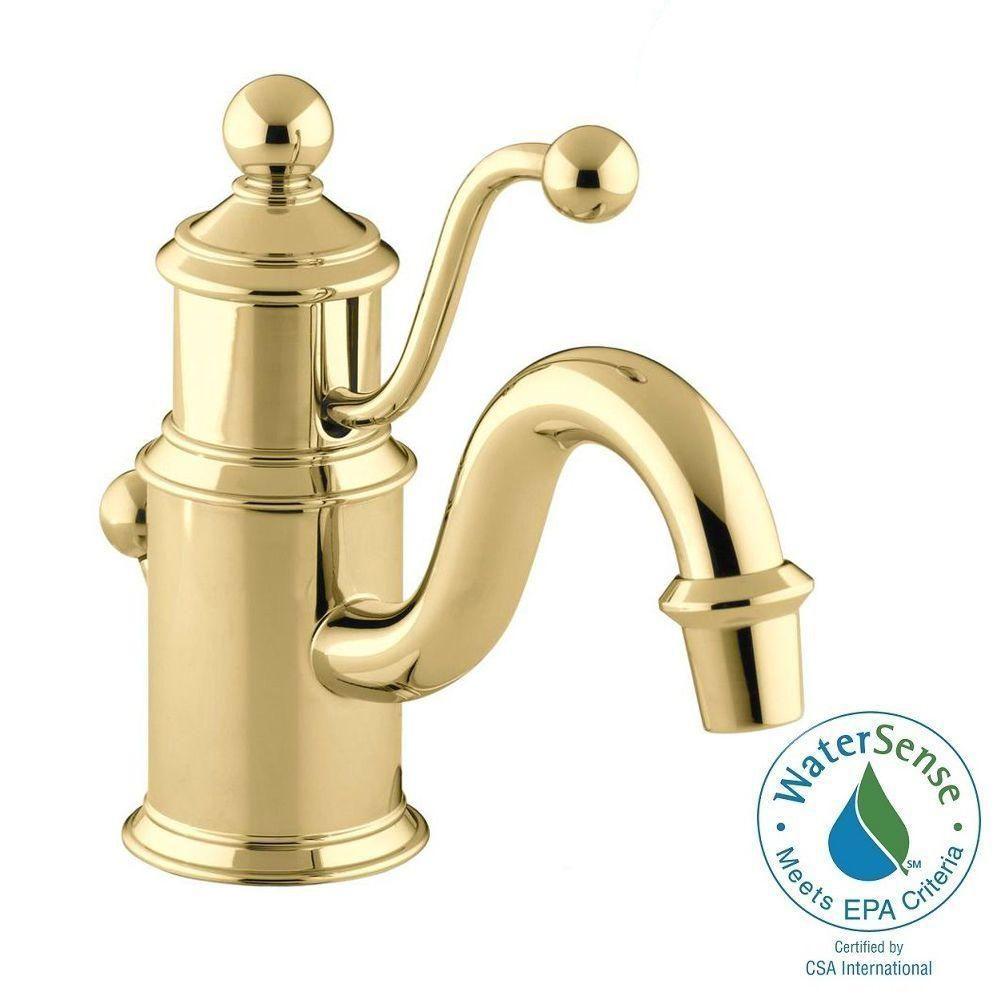 Antique Brass Bathroom Sink Faucet Vintage Old Pat Antique