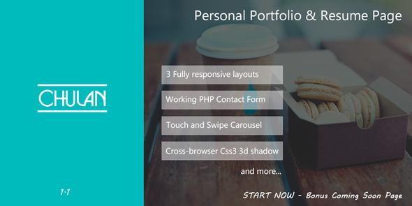 Chulan Personal Portfolio & Resume Page
