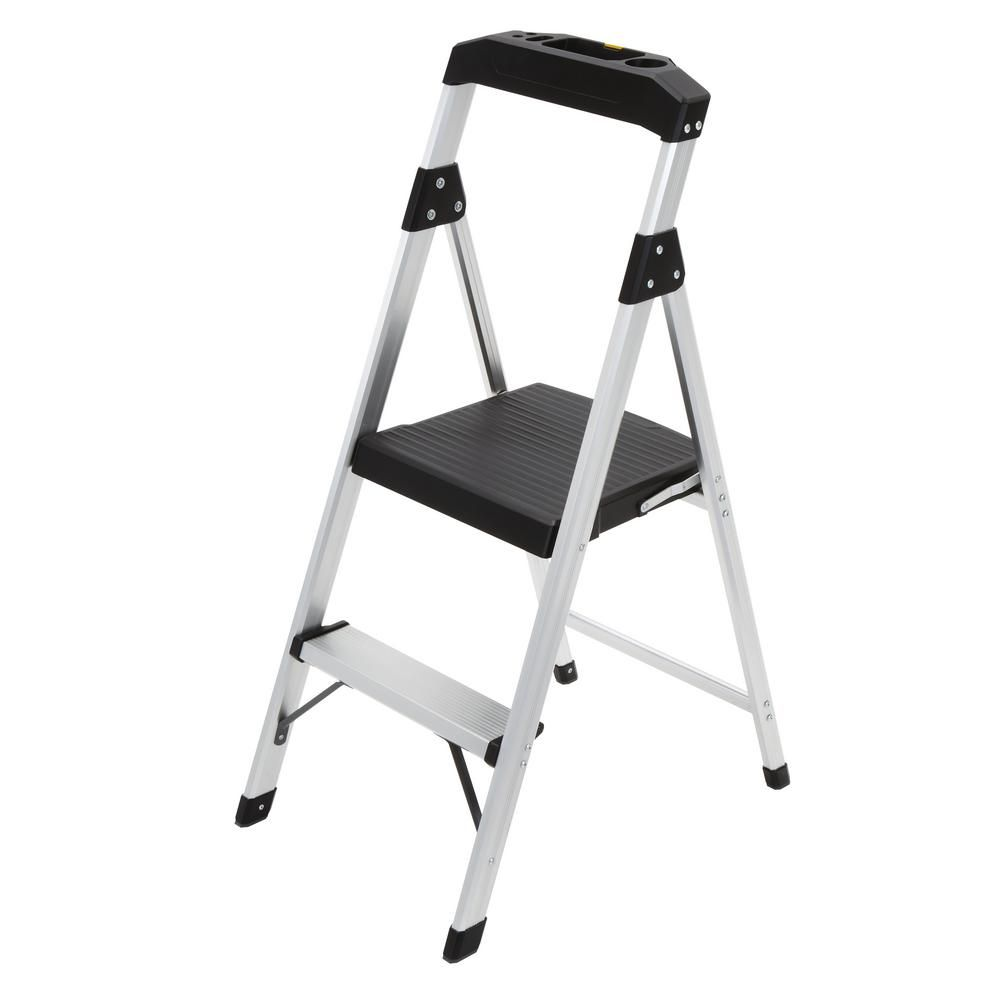 Wondrous Gorilla Ladders 2 Step Aluminum Step Stool Ladder With 225 Pdpeps Interior Chair Design Pdpepsorg