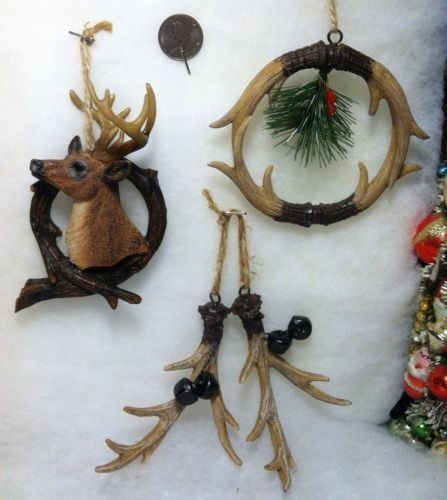 Christmas Tree Made Of Deer Antlers: Deer / Buck Antler Christmas Tree Ornaments, Wreath