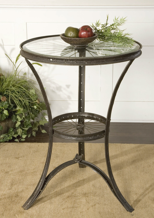Bicycle Wheel Side Table Steampunk Bicycle Table Home Mesas