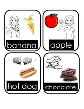 asl food signs food