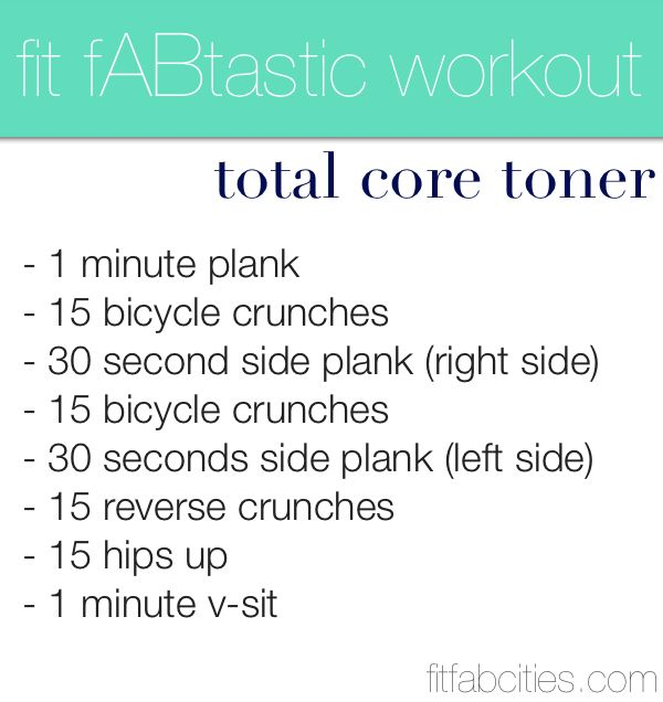Fit fABstastic workout.