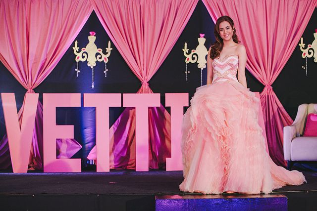 Debut Stage Backdrop Shades of pink in luxe...