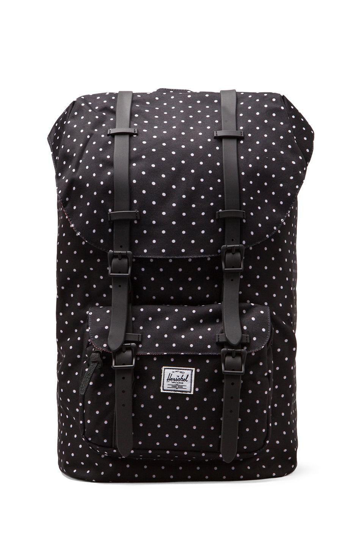 18e29358b8 Herschel Supply Co. Little America Polka Dot in Black   White ...