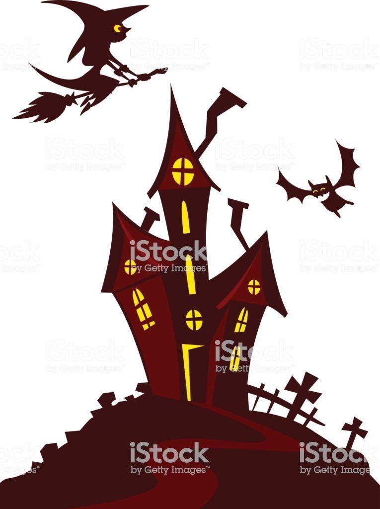 Haunted Mansion Spooky Haunted House Vector Illustration Cartoon