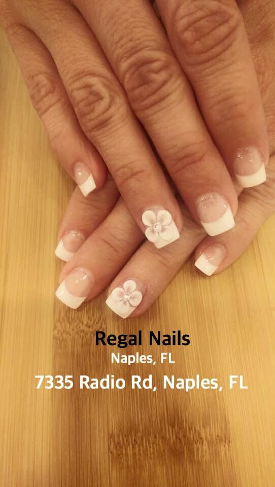 Flower Nail Art Flower Nail Designs French Tip Nails French Tip