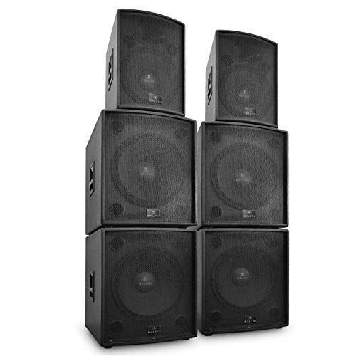 """awesome Auna DJ """"Phidias"""" Set de altavoces PA 6 piezas (12000W potencia, 4x subwoofer, 2x altavoz fullrange, incluye cables, equipo de sonido ideal concierto, eventos hasta 1700 personas) Mas info: http://comprargangas.com/producto/auna-dj-phidias-set-de-altavoces-pa-6-piezas-12000w-potencia-4x-subwoofer-2x-altavoz-fullrange-incluye-cables-equipo-de-sonido-ideal-concierto-eventos-hasta-1700-personas/"""