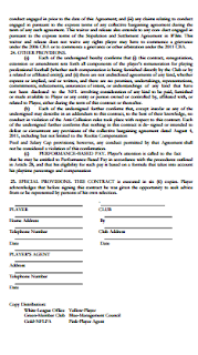 Football Player Contract Pdf Youth Soccer Player Contract