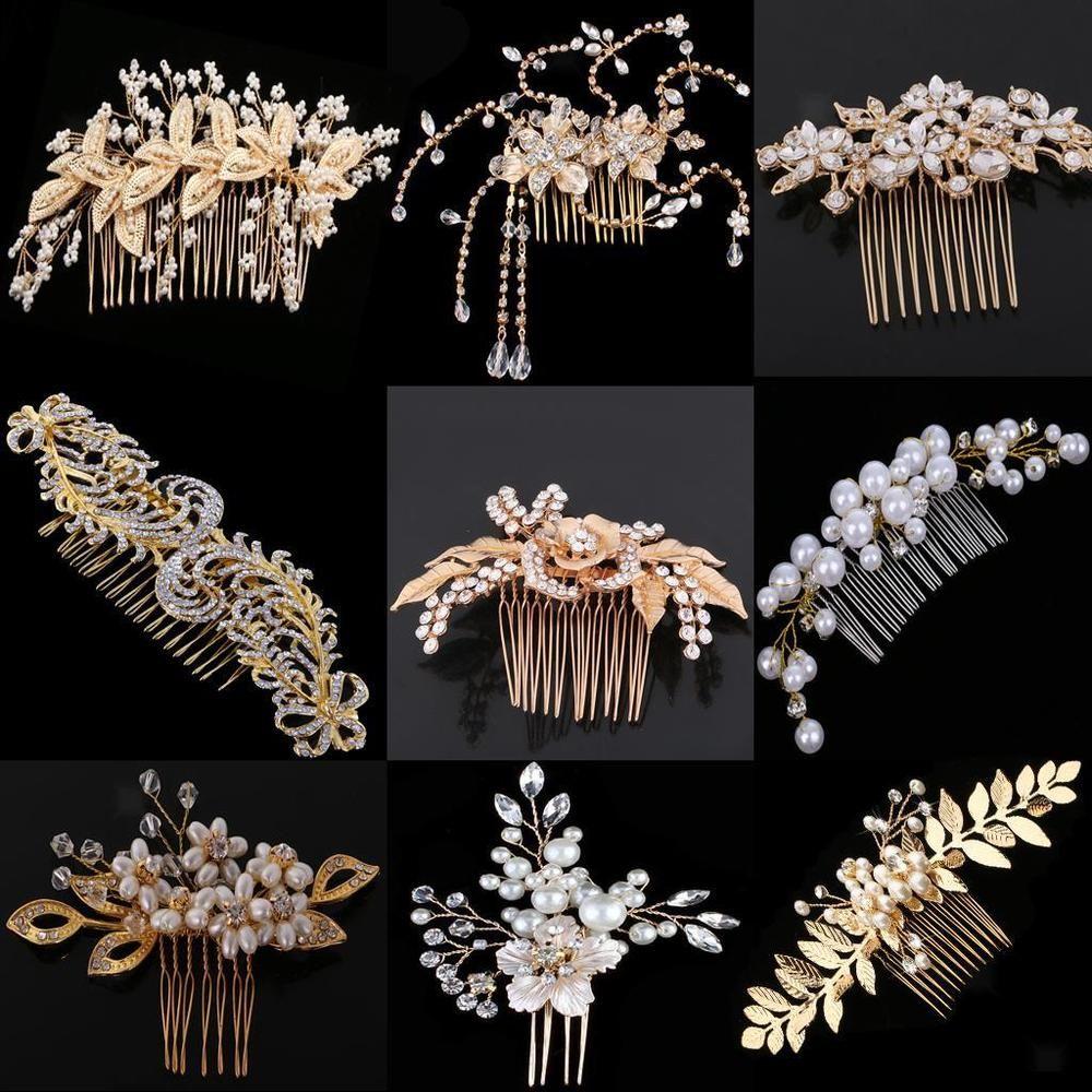 Details about Retro Wedding Bridal Pearl Rhinestone Flower