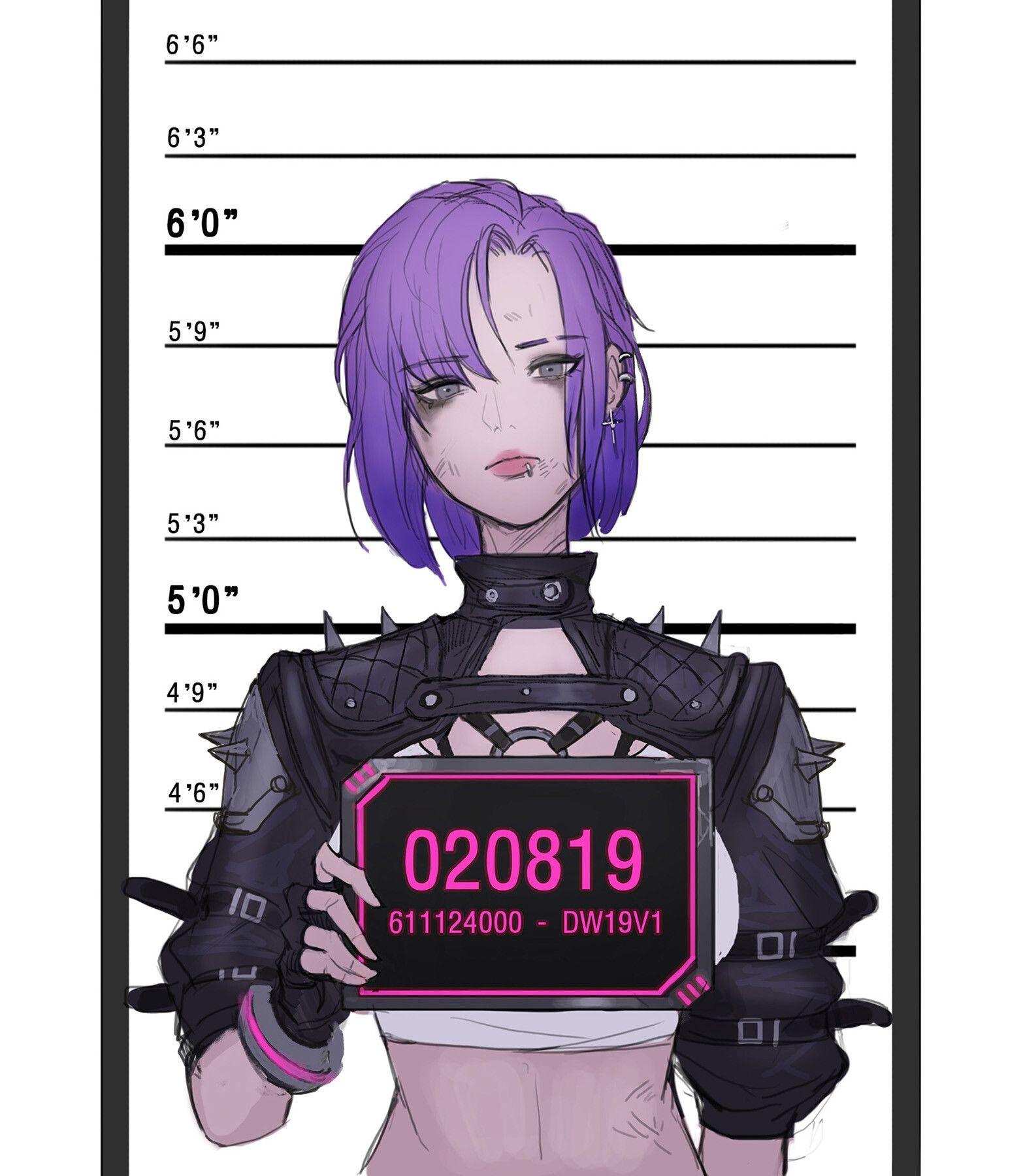 Artstation cyberpunk girl nitro cyberpunk girl