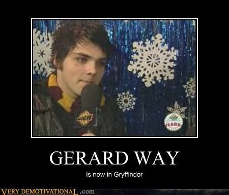 Lol Gerard what are you doing in griffindor? ❤