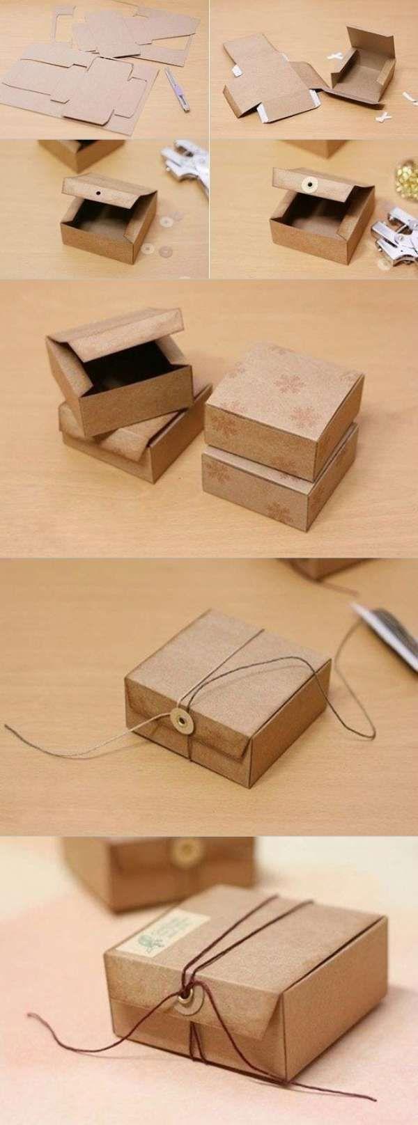 16 cr ations originales partir de boites en carton boite en carton boite cadeau et carton - Comment faire une boite en carton facile ...