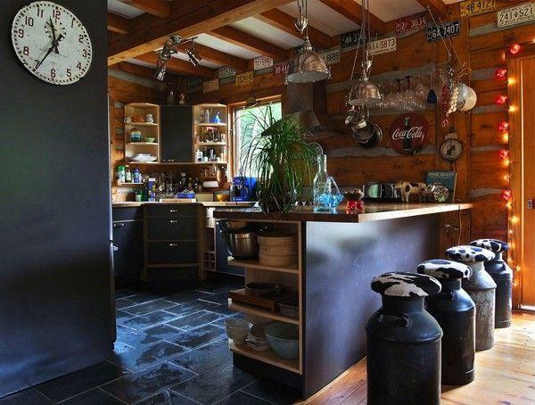 vintage milk churn farm repurposed as stools cafe design en 2018 pinterest maison deco. Black Bedroom Furniture Sets. Home Design Ideas