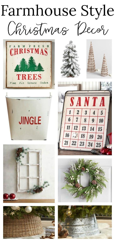 Cozy Farmhouse Style Christmas Decor | Merry Christmas! | Pinterest ...