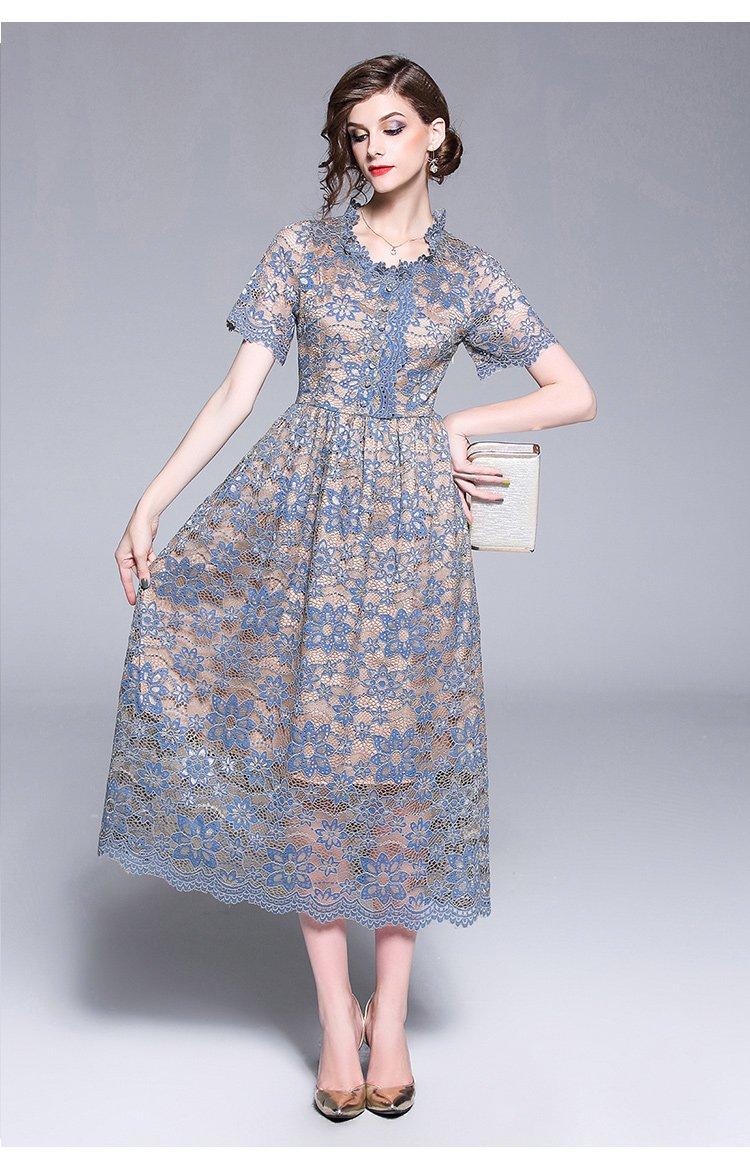 Women Casual Vintage Long Elegant Dress Maxi Ankle Length Female Lace Dress Elegant Maxi Dress Cheap Lace Dress Elegant Dresses Long [ 1176 x 750 Pixel ]