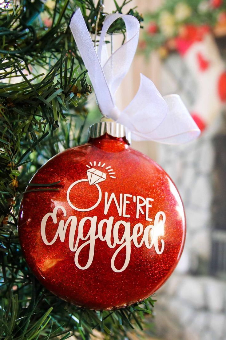 Our First Christmas Engaged Ornament - Engagement Gift for ...