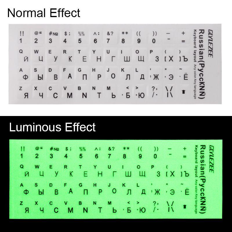 Computer Keyboard Protective Film Waterproof Russian Language Keyboard Stickers