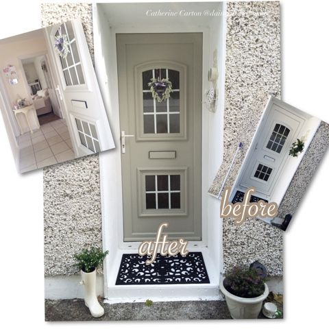 Hand Painted Cottage Chic Upvc Door The Dainty Dress