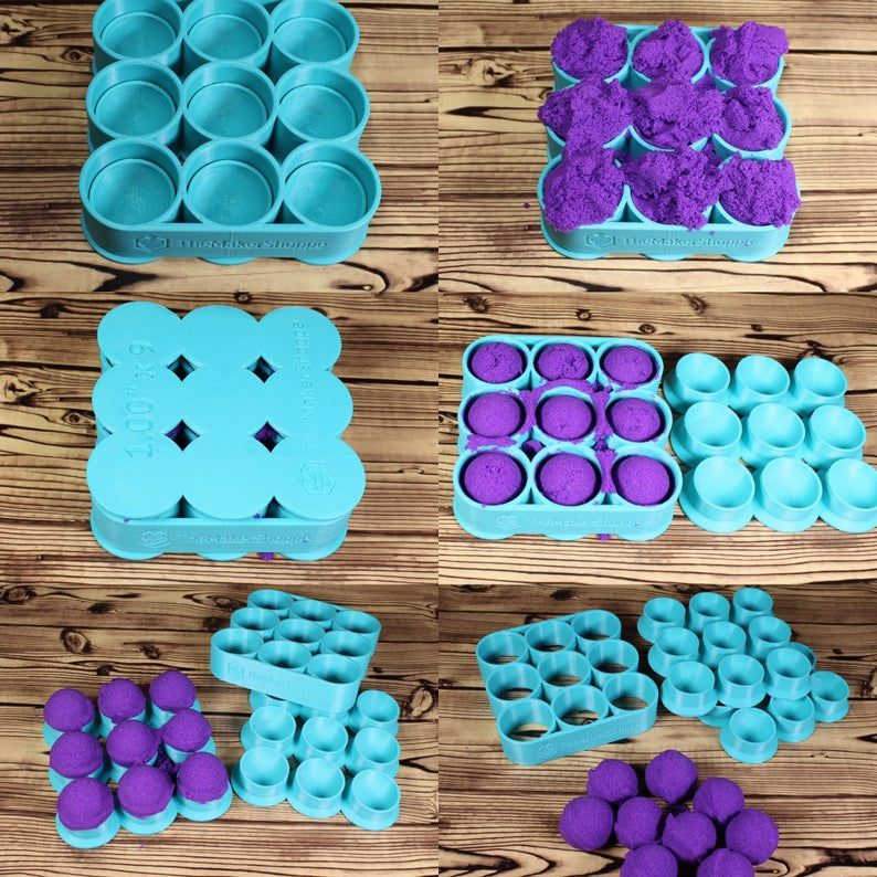 Standard Custom Count Gumball Bath Bomb Mold Press 1