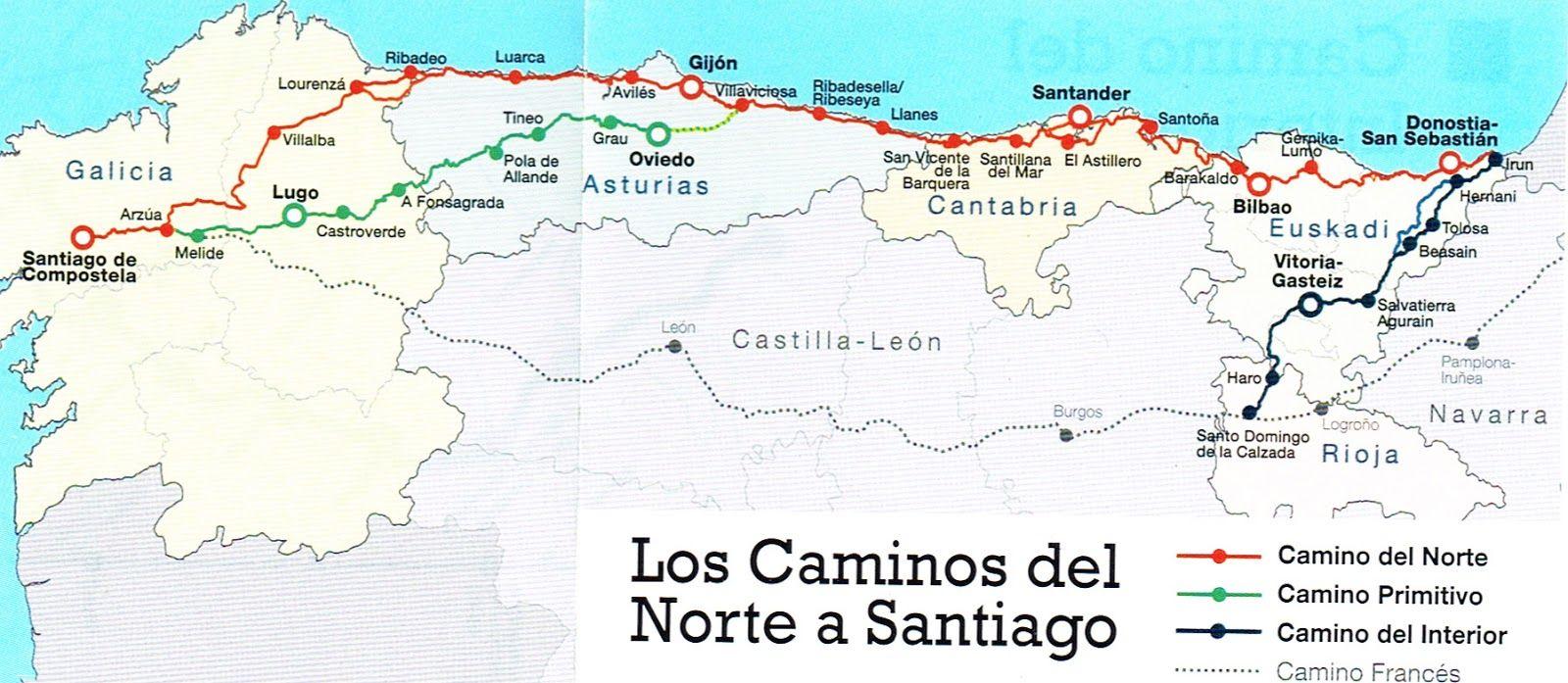 Camino De Santiago Mapa Etapas.Camino Primitivo Etapas Buscar Con Google Camino De
