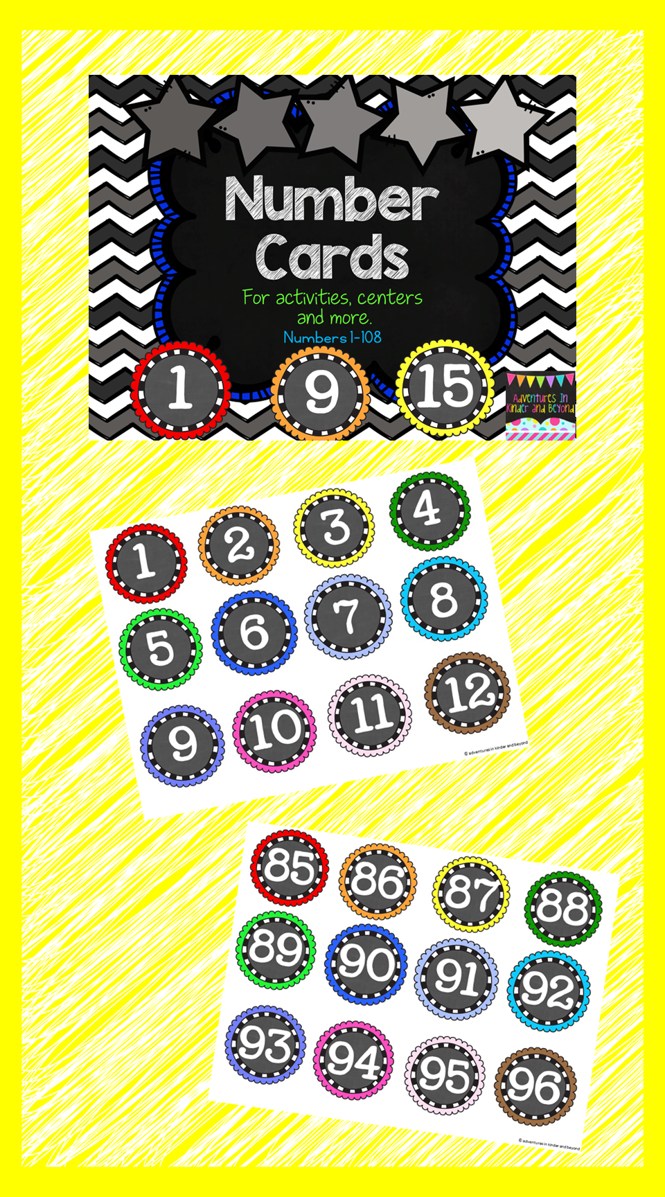 Number Cards- For Centers, Activities, Management and more ...