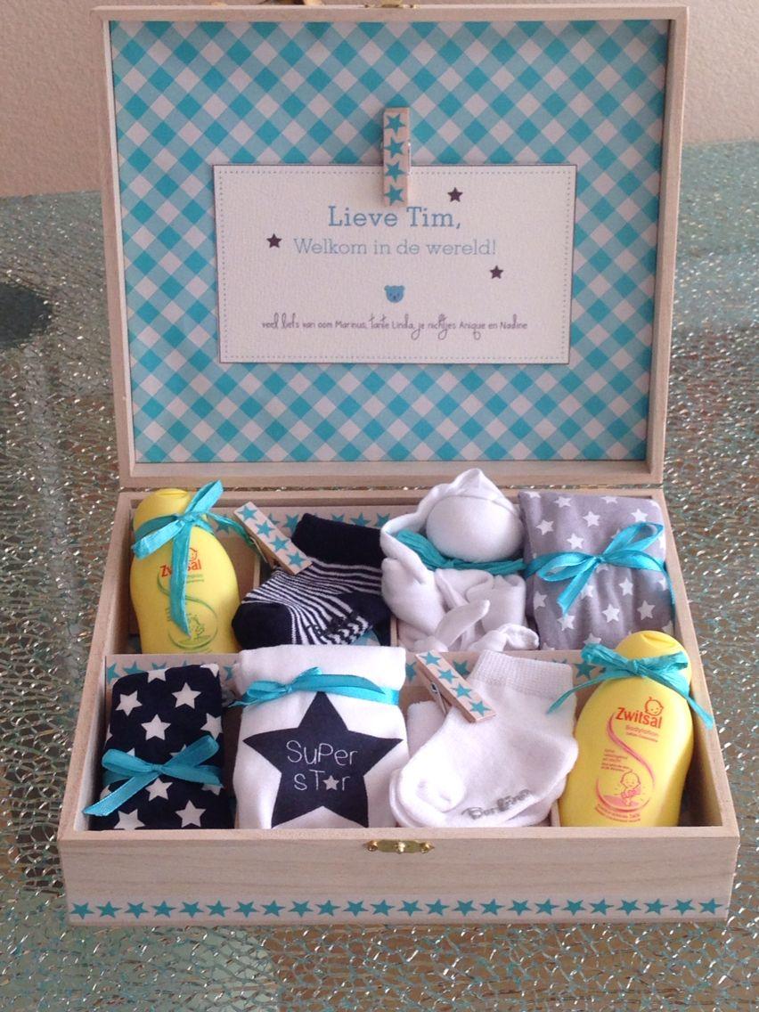 Geboorte Cadeau Theedoos Kraamcadeautjes Baby Gift