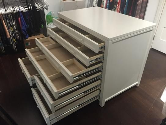 W 8 Drawer Flat File Cabinet In Sequoia