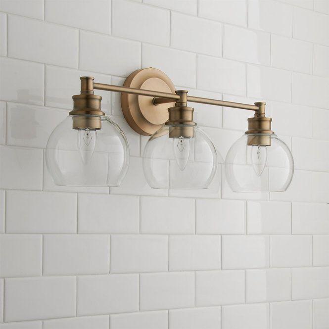 Photo of Volta Glass Vanity Light – 3 Light The Volta Glass Collection illuminates …