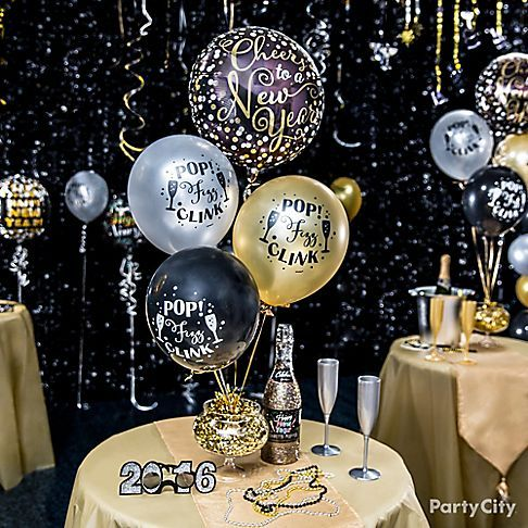 Elegant New Year\u0027s Eve Balloon Ideas , Party City