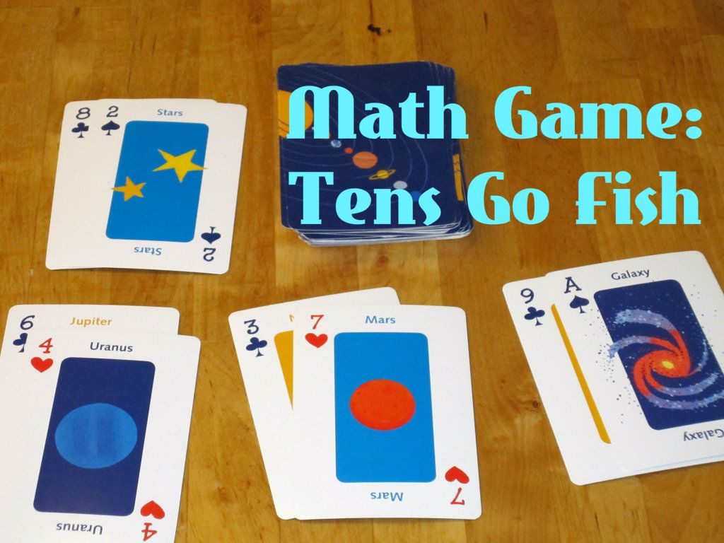 Easy Math Game Tens Go Fish Math games for kids, Easy