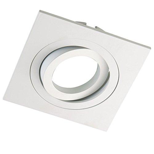 Wonderlamp Classic W E000004 Foco Empotrable Cuadrado Para Techo Incluye Portalamparas Gu10 Color Blanco Amazon Es Con Imagenes Focos Iluminacion Interior Iluminacion