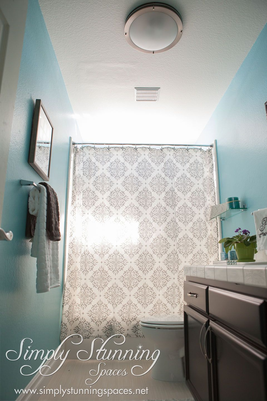 Bathrooms Bathroom design inspiration, Shower curtain