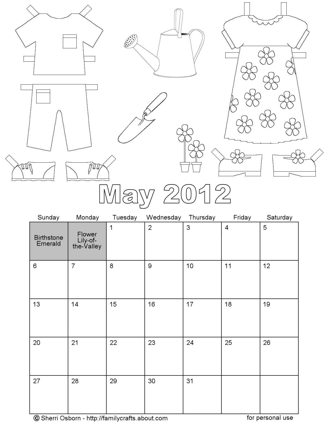 May 2012 Calendar Pages Printables Pinterest 2012 Calendar