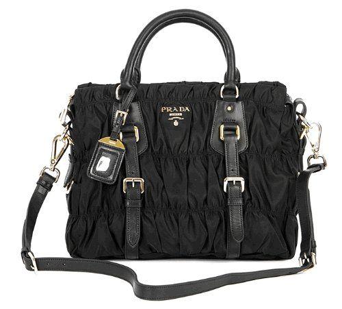 c33a827a91c7 PRADA GAUFRE NYLON TESSUTO HANDBAG BN1336 BLACK « Clothing Impulse ...