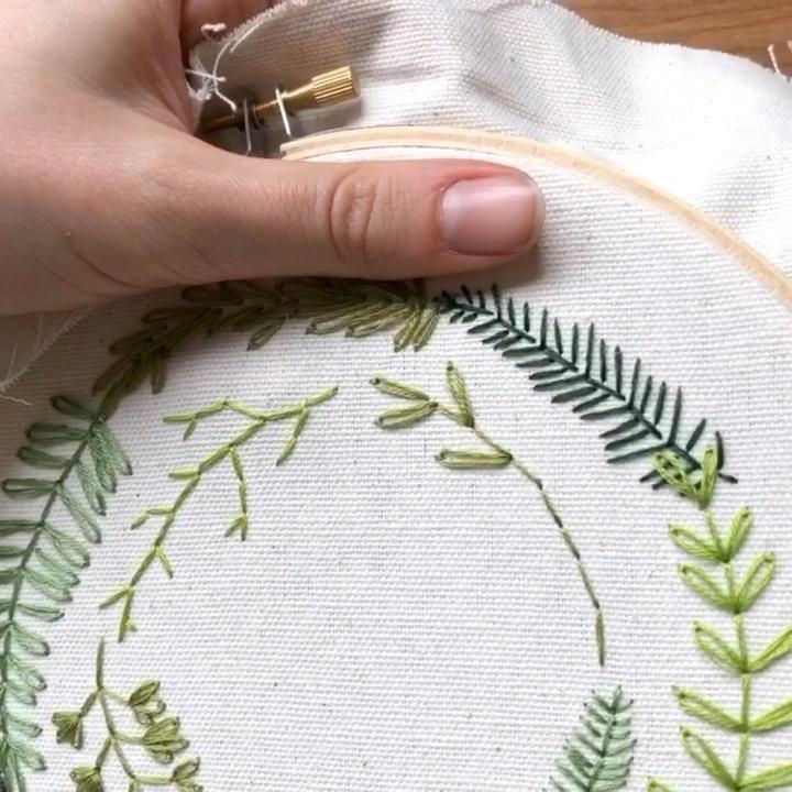 Apprenez à broder des plantes   – Sticken