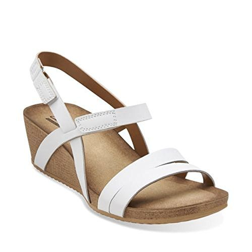 Womens Sandals Clarks Alto Gull White Leather