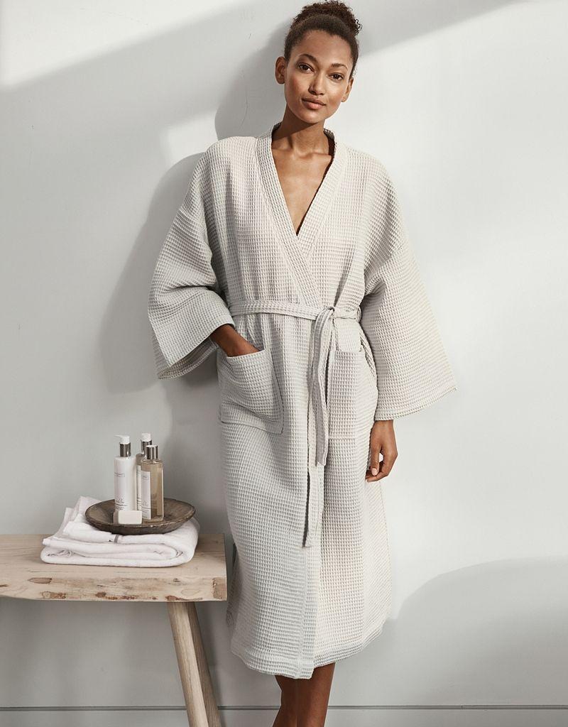Lightweight Waffle Robe | Waffle robe, Pearl grey and White company