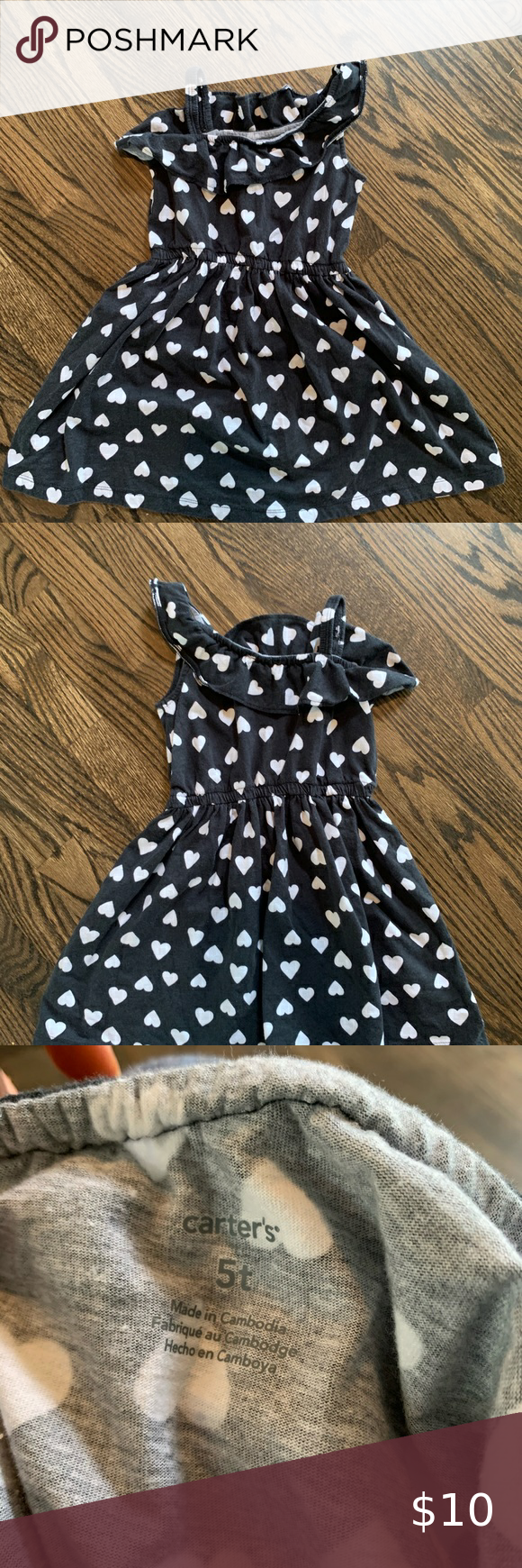 Girls 5t Black And White Dress From Carters Girls Size 5t Black And White Dress With Hearts From Carters Per Black N White Dress White Dress Carters Dresses [ 1740 x 580 Pixel ]