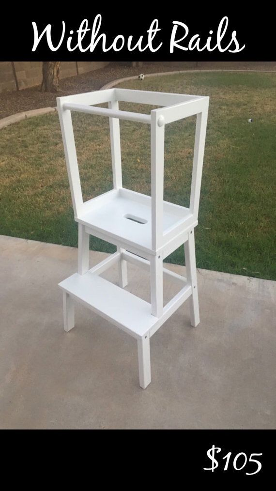 Montessori Kitchen Helper Toddler Tower Step Stool