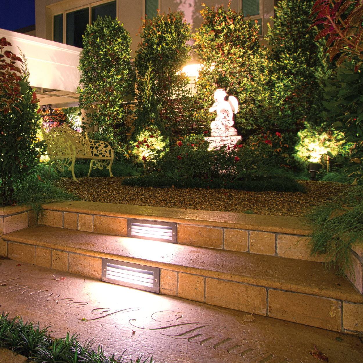 Legend 2 Recessed Led Stainless Steel Step Lighting Landscaping Jobs Outdoor