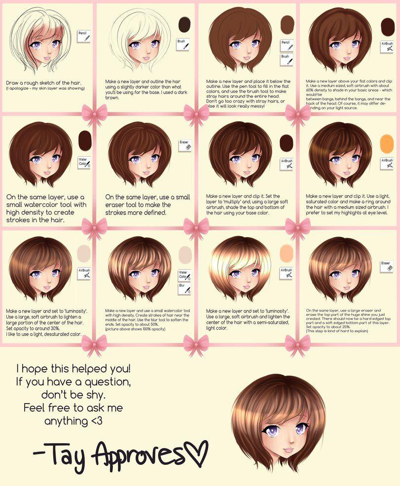 how to draw hair sai