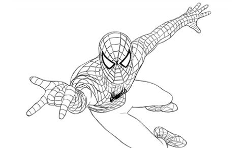 Spiderman da colorare disegni pinterest for Spiderman da colorare per bambini