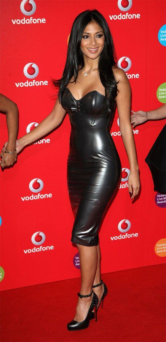 Nicole Scherzinger Dresses Black Leather