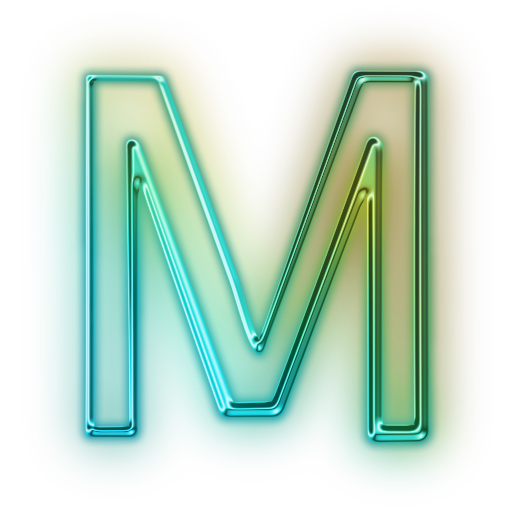 The Letter M Text Art Lettering Black Background Photography
