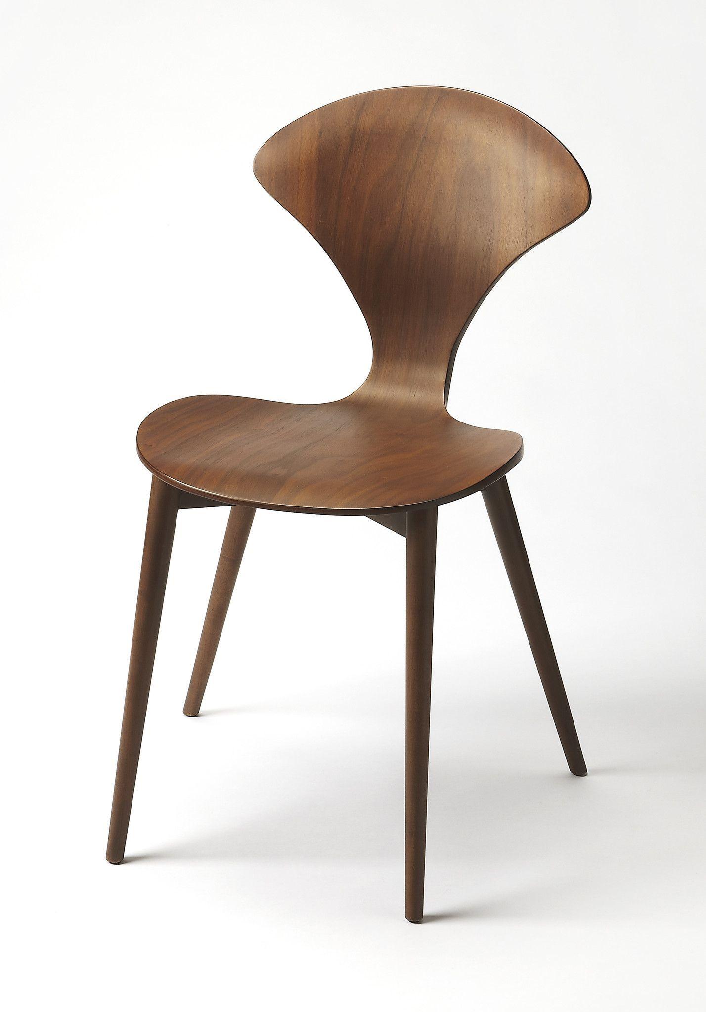 Metropolitan Modern Side Chair Dark Brown
